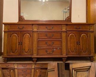 Vintage 12 Drawer Dresser with Mirror