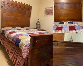 Antique Eastlake Victorian Full Size Bed