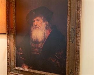 #3Print of Old Man w/Beard Framed  37.5x47$100