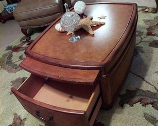 Unique coffee table  2 drawers  & 2 pull  out trays