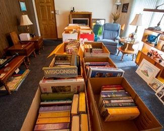 Hundreds of Cookbooks and other books! (This is just one of the rooms with cookbooks).