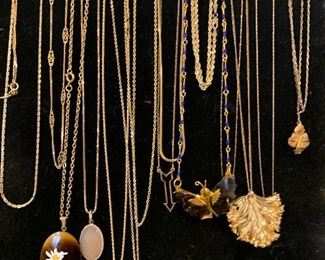 Nice amount of 14k gold necklaces