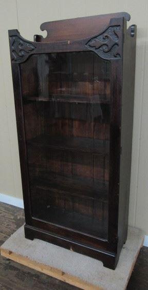 Oak Single Door Bookcase