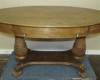 Library Table w/Claw Feet