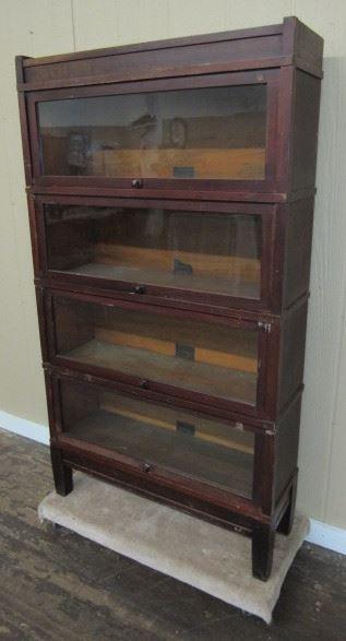Mahogany 4 Stack Bookcase
