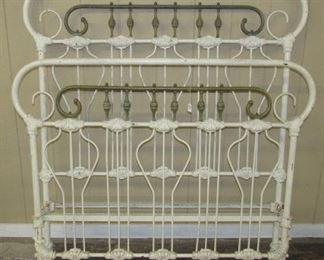 Fancy Iron Bed w/Rails