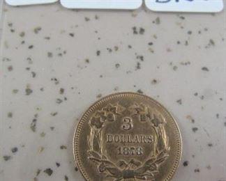 1878 Gold $3.00 Coin