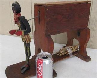 Wooden Dancing Black Art Man - Doesn't Work