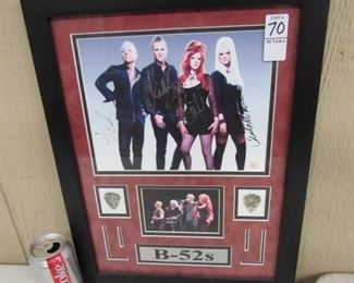 B-52's Band Photo w/4 Autographs - Has Certificate On Back