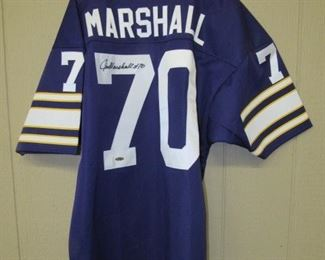 Jim Marshall Autographed Jersey w/Certified #