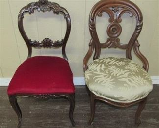 Carved Back Chairs