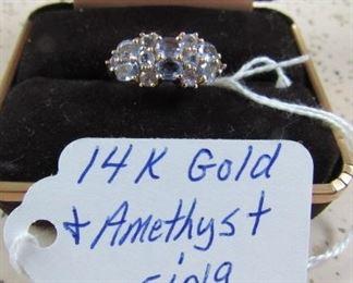14K Gold & Amethyst Ring