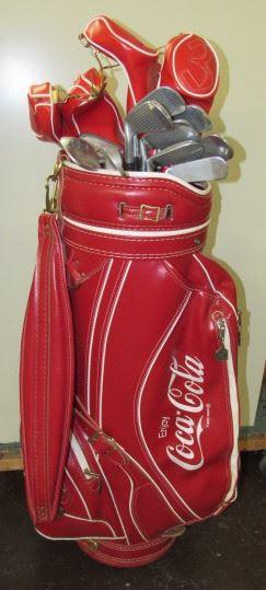 Leather Coke Golf Club Bag