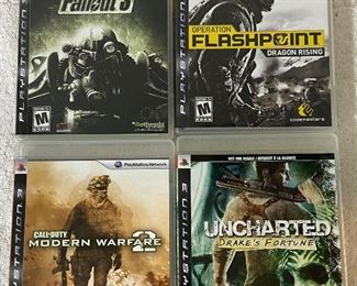 Four PS3 Games With Manuals