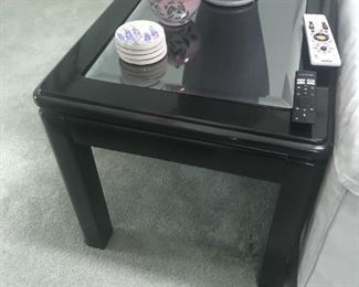 Glass Top End Table $ 60.00