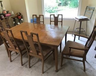 Mid Century Style Table / 6 Chairs $ 320.00