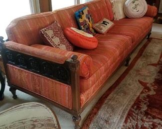 Asian Modern Sofa and Throw Pillows