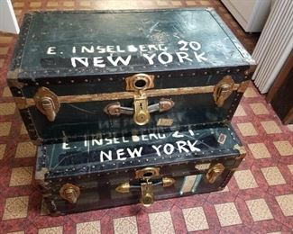 Trunks Used for International Move in 1970