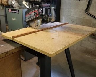 Craftsman Radial Saw, Includes Box of Accessories
