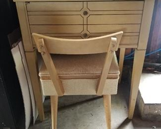 Super Cute MCM Sewing Cabinet and Chair. Includes Sewing Machine.