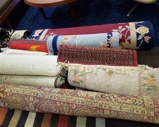 Multiple area rugs