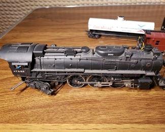 Tenshodo 3463 ATSF 4-6-4 Brass Steam Engine Train
