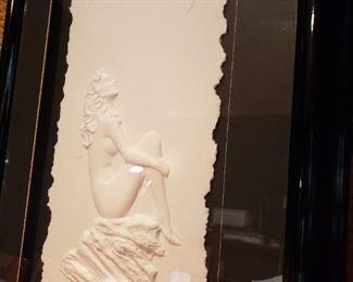 Original Roberta Peck Hand Cast Molded Paper Art Piece