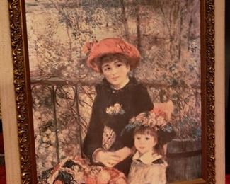 Canvas board Renoir Print