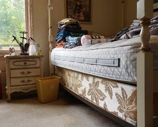 French Provincial Nightstand and Canopy Bed