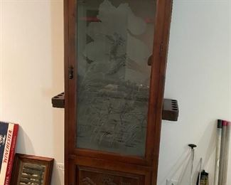 """HANDCRAFTED ONE OF A KIND GUN FISHING CABINET FROM SPAIN. 84"""" H X 38"""" W X 19"""" D. PICS DO NOT DO THIS JUSTICE. BUY IT NOW $4000"""