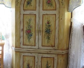 Incredible hand painted cabinet by Habersham Plantation.