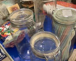 Kitchen Jars with sealed lids
