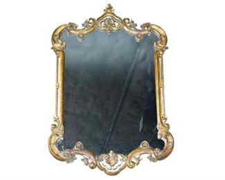 5. Scrolled and Arched Gilt Mirror