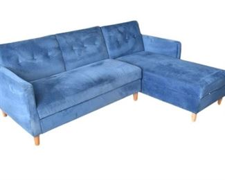 69. Blue L Shaped Sectional Sofa