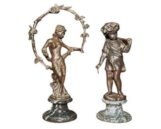 70. Two 2 Decorative Bronze Figures