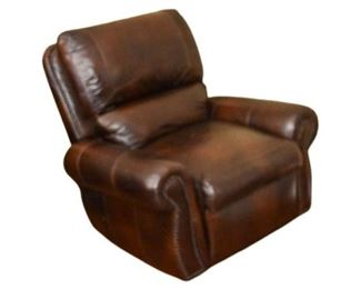3. Brown Leather Armchair