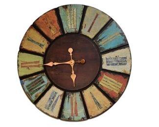 6. Decorative Distressed Wall Clock