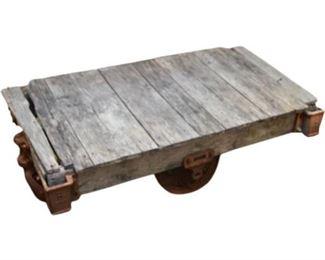 8. Vintage Industrial Cart