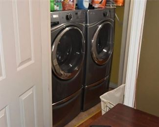 9. WHRILPOOL Duet Washer Dryer With Bases