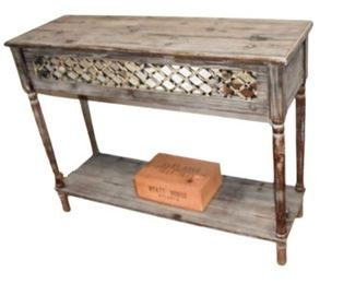 10. Rustic Wooden One Drawer Console Table