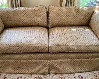 Henredon sofa in gold tones