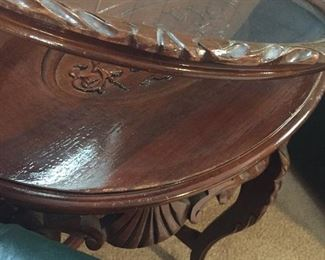 Antique tabletop circa 1930s.  Removable tray top. Perfect condition. Let's of detail. Best offer.