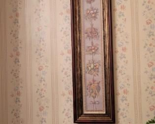 """one of a set of pictures in dining room. 7 1/2"""" wide x 35"""" tall"""