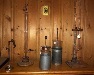 Geissler tubes & Leyden jars