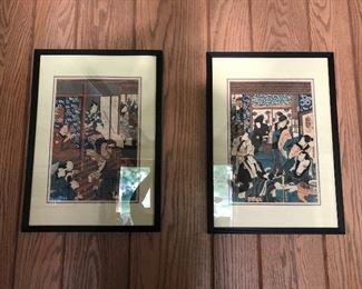 Antique Japanese prints