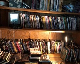 100s of DVDs