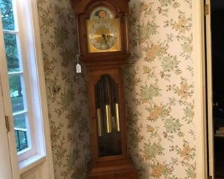 Working tall case clock, Colonial Clock Co. Cleveland, with beautiful chimes