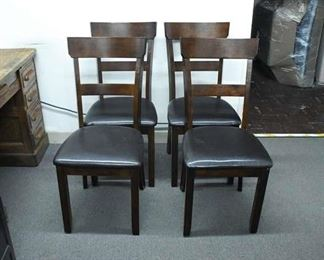 Black And Brown Dining Chairs - Set Of 4