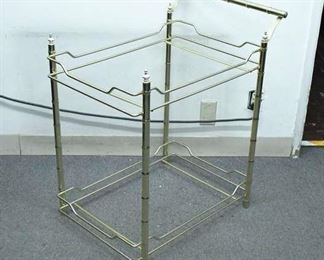 Bar Cart With Gold Finish, No Glass Or Wheels