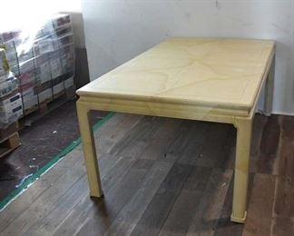 Late 60'S Henredon Folio 16 Chinoiserie Dining Table W/ Leaves